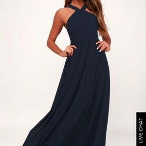 LULU'S Navy Blue Bridesmaid Dress - Size XL